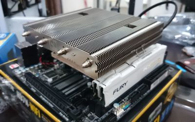 Then install the RAM and the CPU cooler