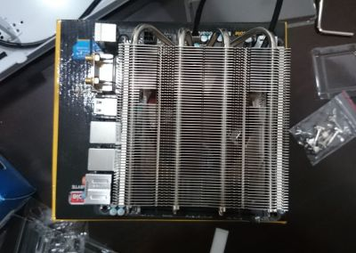 The CPU cooler covers almost the entire motherboard